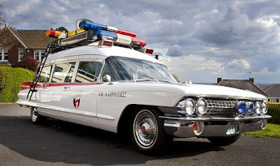Old Cadillac Ghostbuster Classic Ambulance