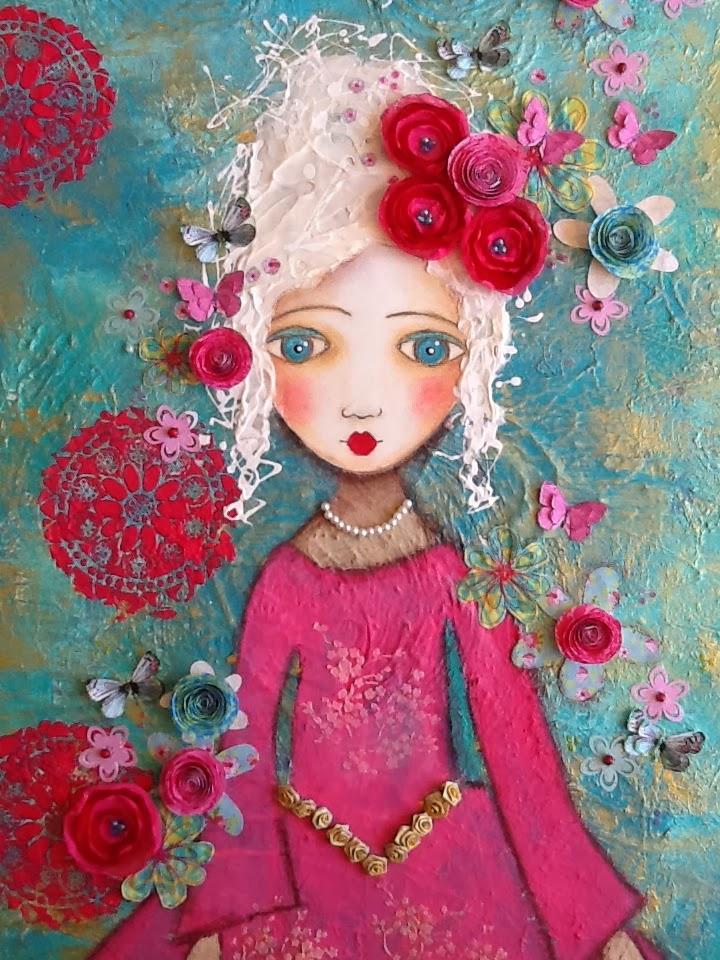 Made-By-Me....Julie Ryder: Marie Antoinette…..mixed media ...