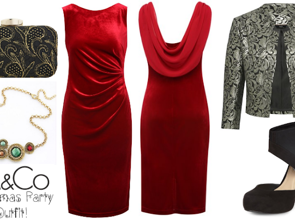 A Christmas Party Outfit with M&Co: Modern Vintage Christmas