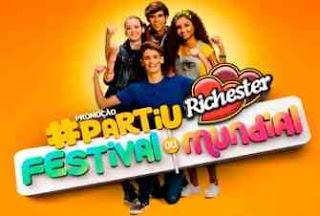 Cadastrar Promoção Richester 2018 Partiu Richester Festival ou Mundial Prêmios