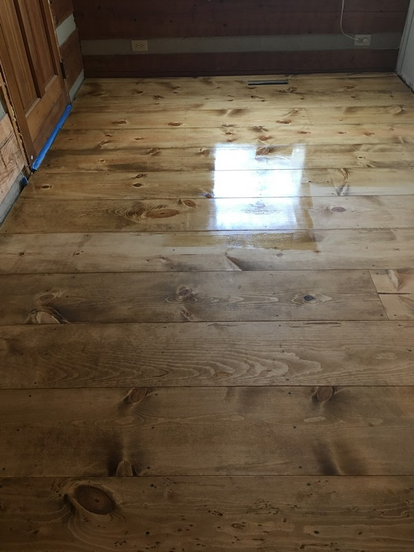 DIY Wide Plank Pine Floors Finishing | Sealing Bona AmberSeal
