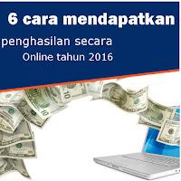mendapatkan penghasilan online
