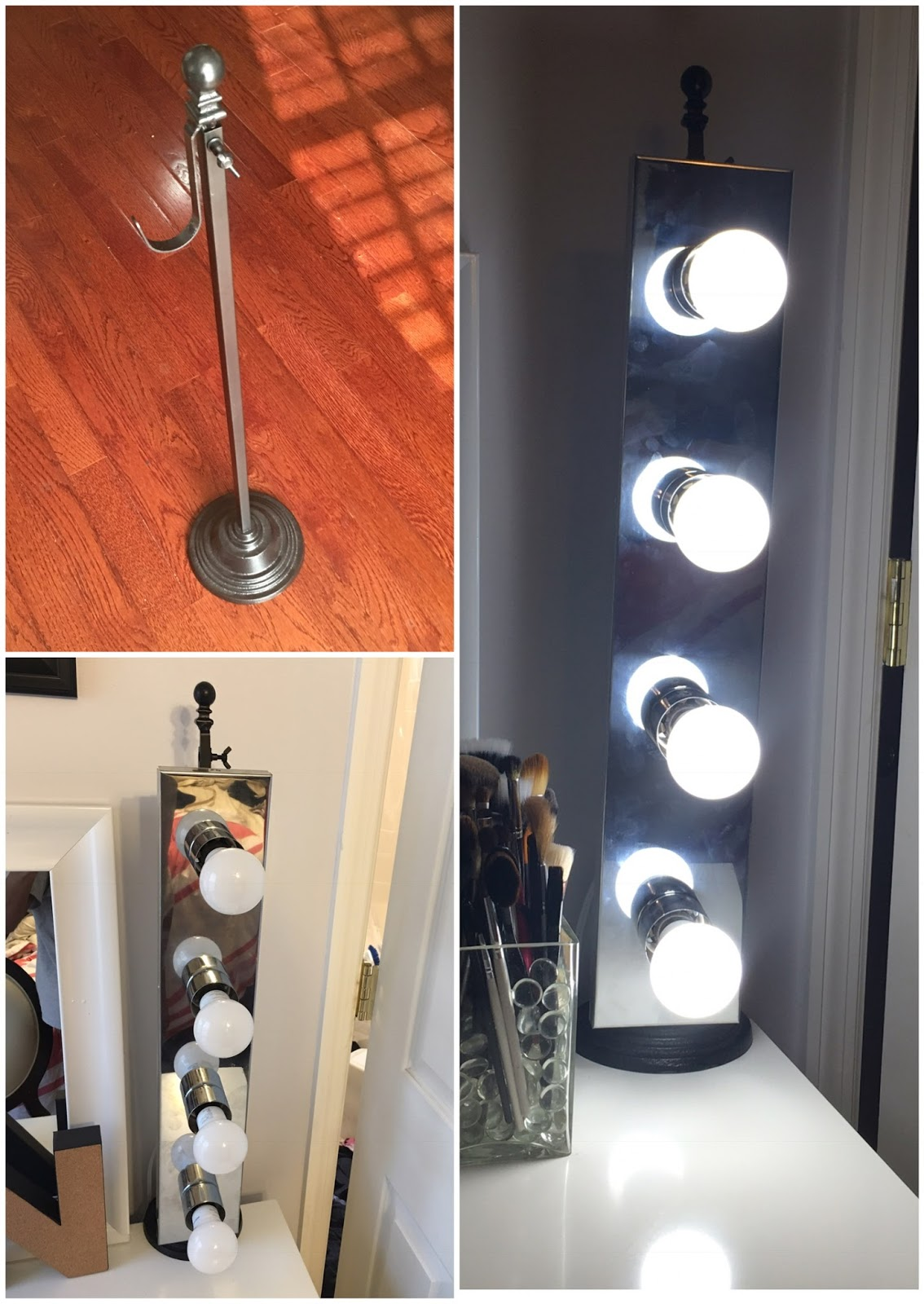 Awesome Iu0027m Currently Working On My Vanity Space And Iu0027m Not Done But I Wanted To  Share My DIY Vanity Light. You Can Find Tutorials On How To Do This All  Over The ...