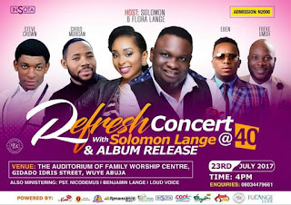 EVENT: Refresh With Solomon Lange & Other Anointed Ministrels on 23rd July 2017