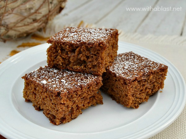 Gingerbread Snacking Cake ~ Rich, tasty Molasses, Gingerbread cake ...