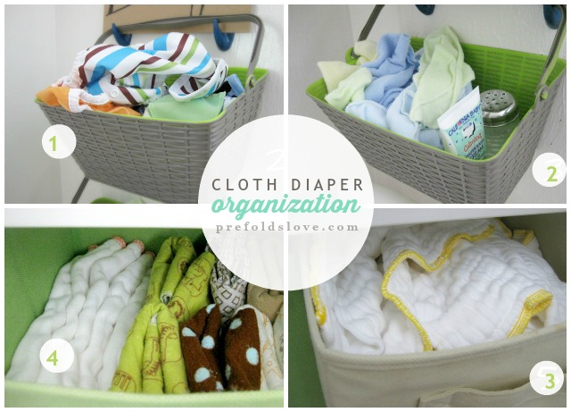 Prefold Cloth Diaper Organization // Changing Table Set-Up