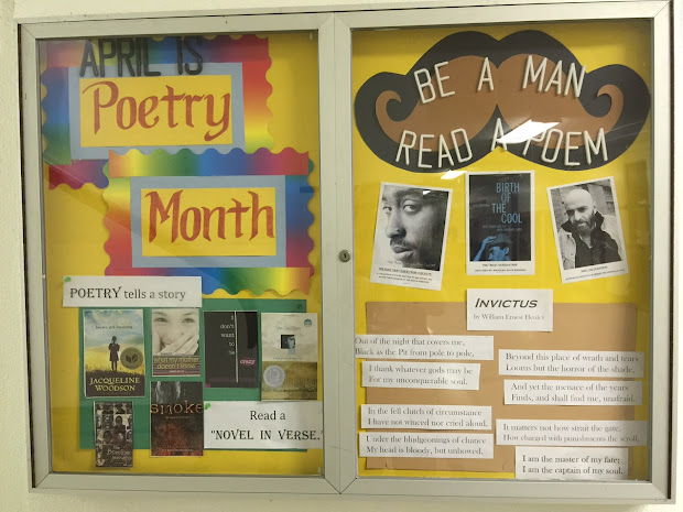 Poetry Month Library Bulletin Board