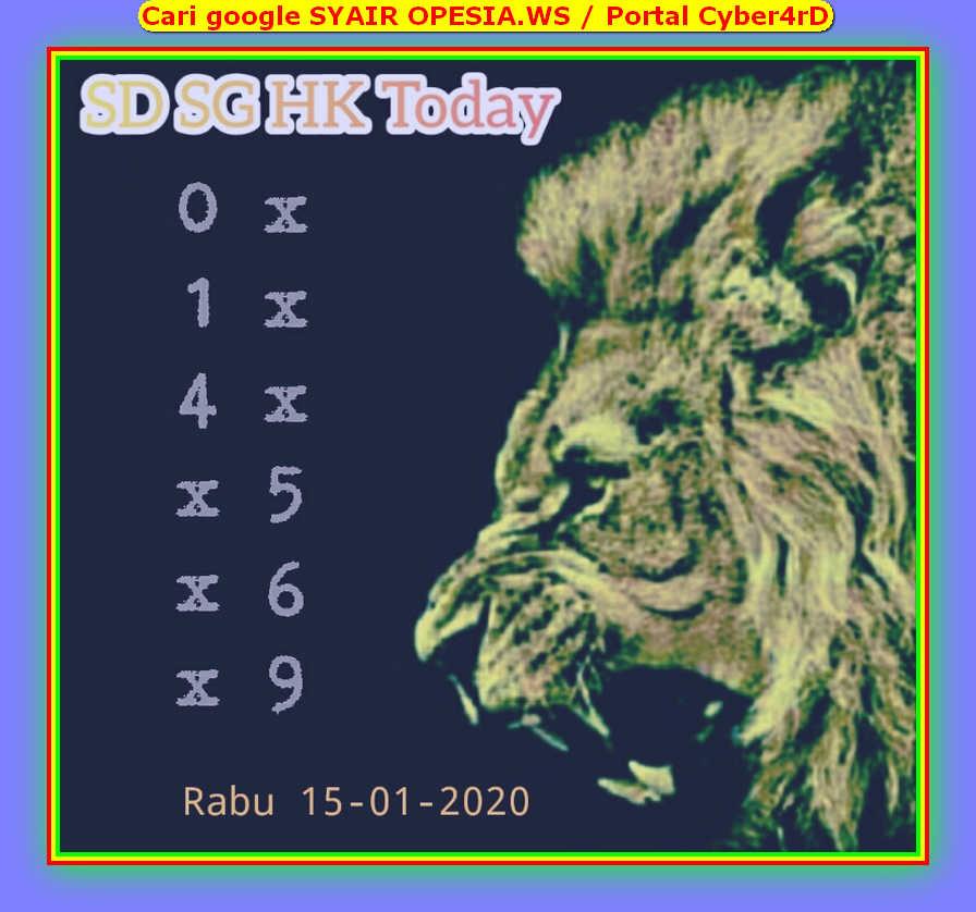 Kode syair Singapore Rabu 15 Januari 2020 48