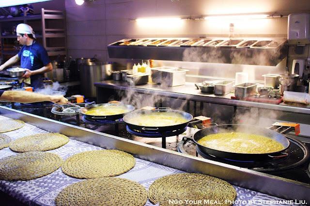 Kitchen at Xiringuito Escribà in Barcelona