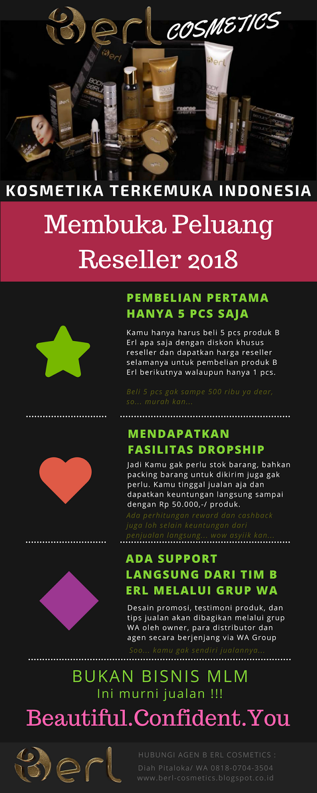 reseller b erl cosmetic
