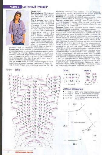 Instrucciones y patrón para tejer blusa