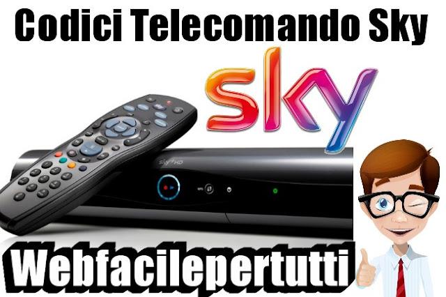 guida e codici telecomando sky elencati per marca