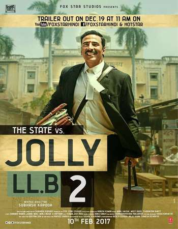 Poster Of Jolly LLB 2 2017 Hindi 190MB pDVD HEVC Mobile Watch Online Free Download world4ufree.org