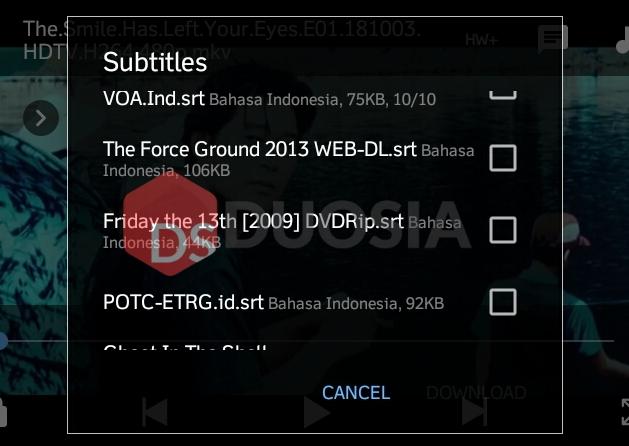 subtitle film di android