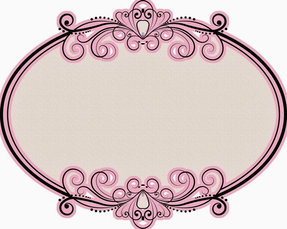 Fiesta de princesas marcos toppers o etiquetas para - Marcos redondos para cuadros ...