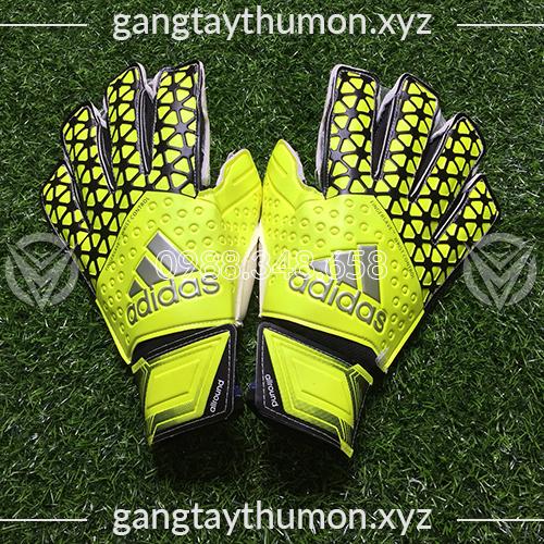 Găng Tay Thủ Môn Adidas Fingersave Wrist Control Xanh Chuối