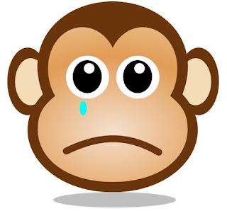 Gambar Menangis Monyet Muka Kartun Lucu