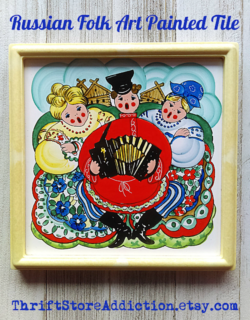 hand painted Russian folk art