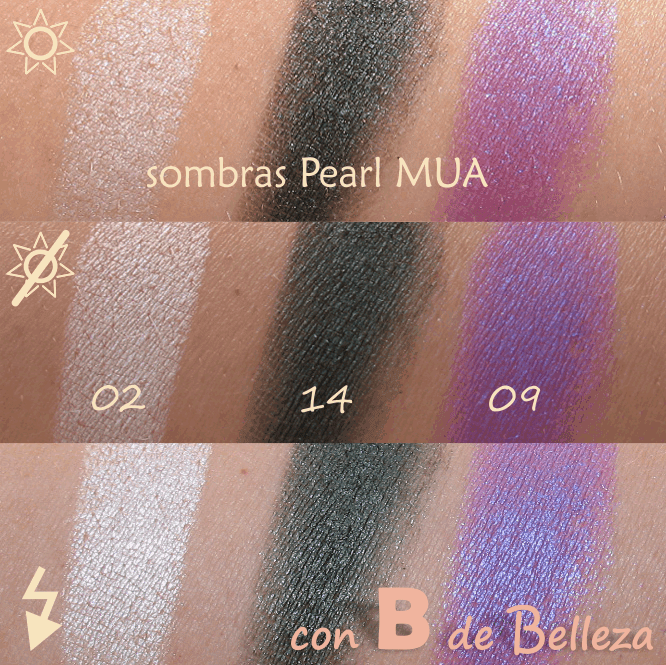 Swatches Pearl eyeshadow  Make up academy
