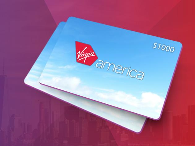 The Virgin America $ 1,000 Giveaway
