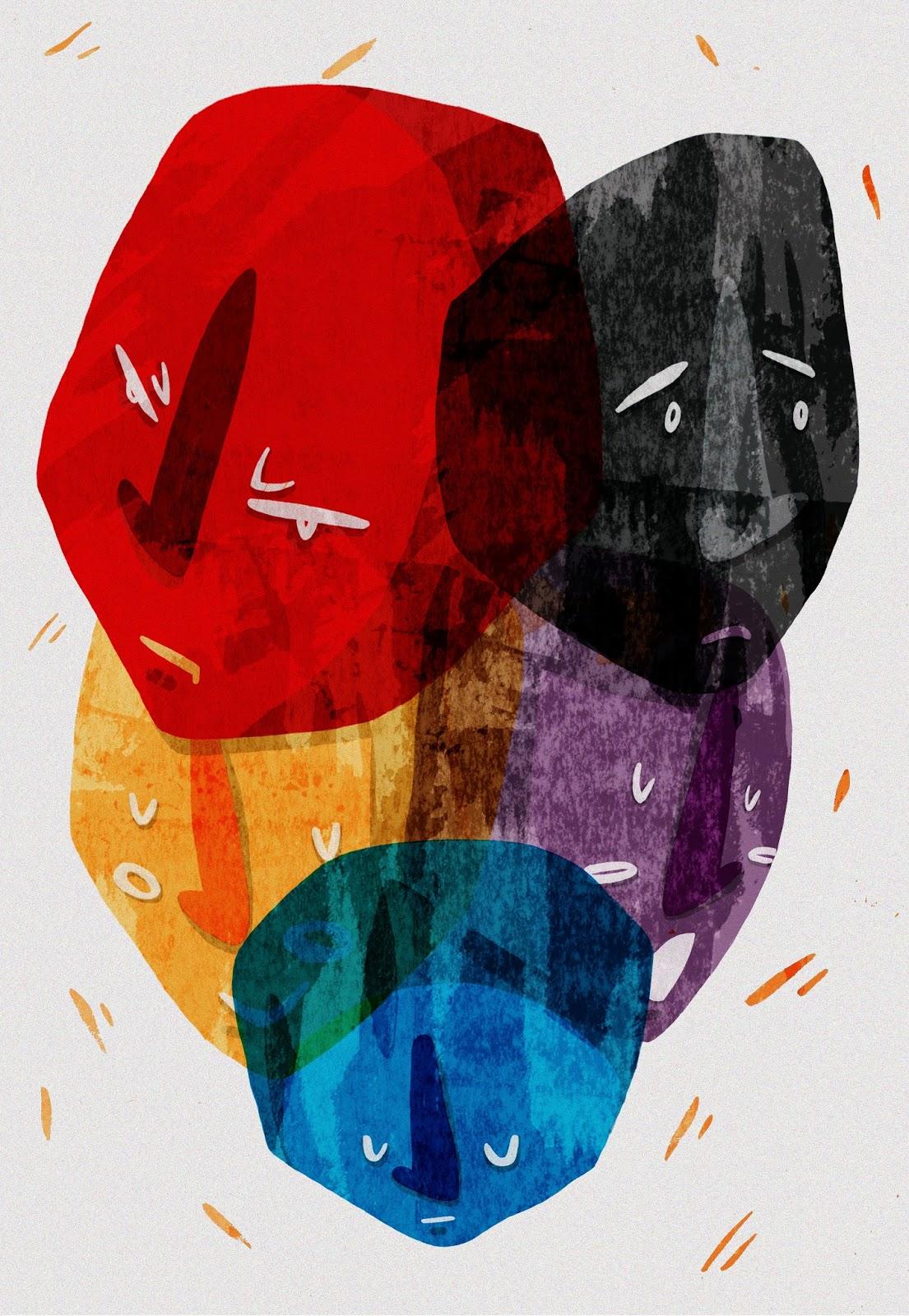 Rachel Tunstall Illustration: Editorial: Schizophrenia