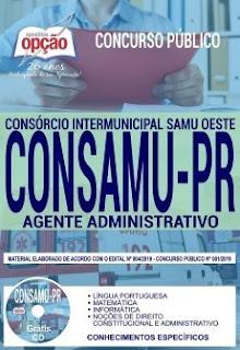 Apostila CONSAMU PR 2019 - Agente Administrativo