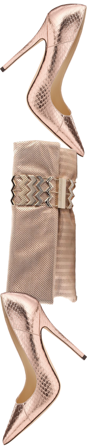 Jimmy Choo Anouk Ballet Pink Metallic Pump