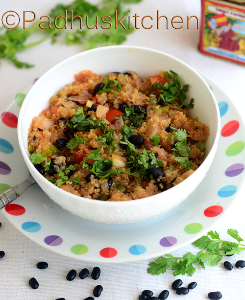 Quinoa with Black Beans and Tomato