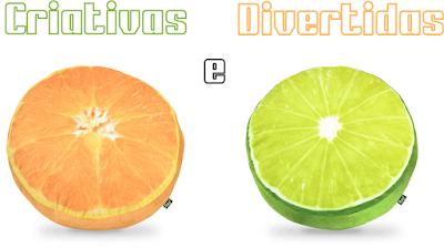 Almofadas Criativas e Divertidas - Laranja e Limão