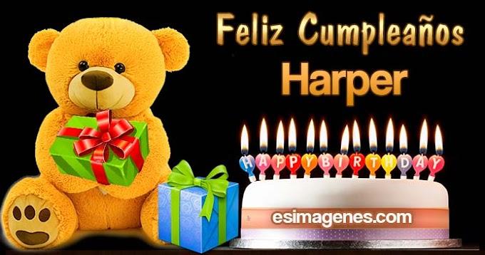Feliz cumpleaños Harper