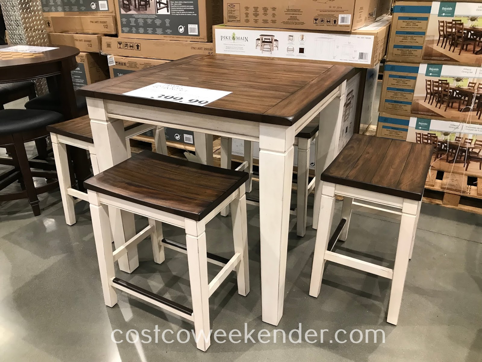 Have breakfast with the family on the Pike & Main 5-piece Counter Height Dining Set