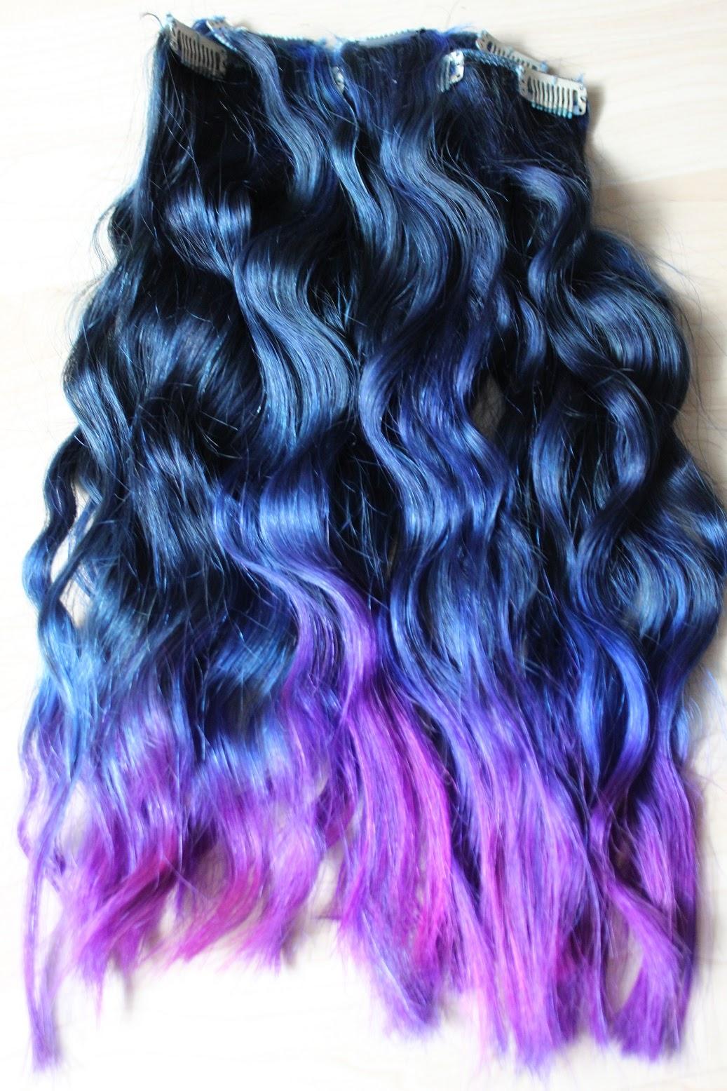 Ira Vampira S Blog Directions Auf Braunem Haar Blau Lila Dip Dye