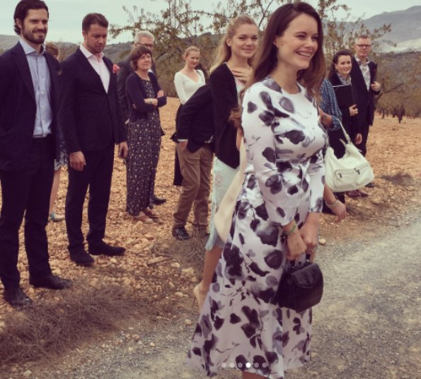 Mattias Klum got married with Iris Alexandrov in the Lecrin Valley. Princess Sofia wore Viktoria Chan Bloom Long Silk Dress