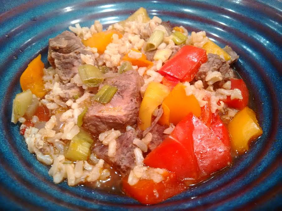 Sets and Recipes: Slow Cooker Beef & Bell Peppers