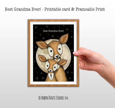 Mother's Day Cards for Grandma by Robin Davis Studio