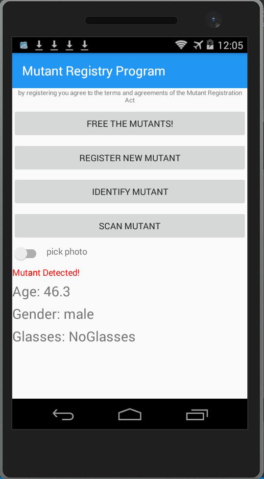 Parsimony: Sentinel Mutant Registration Facial Recognition
