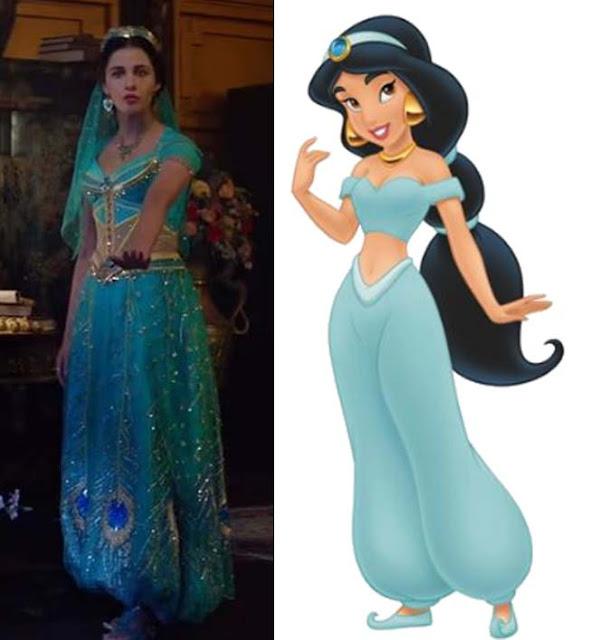 Look verde da Jasmine no filme Aladdin