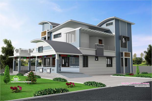 Modern Unique Style Villa Design - Kerala Home And