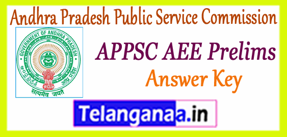 APPSC AEE Andhra Pradesh Public Service Commission Assistant Executive Engineer Prelims Answer Key 2017-18 Cutoff