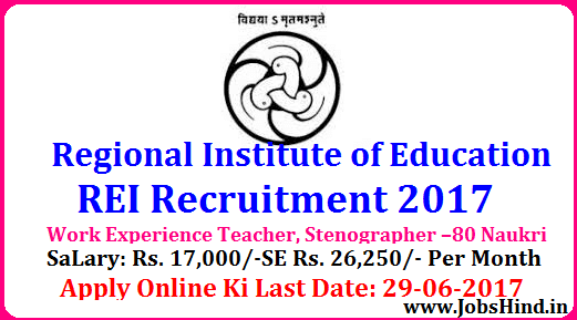 RIE Recruitment 2017