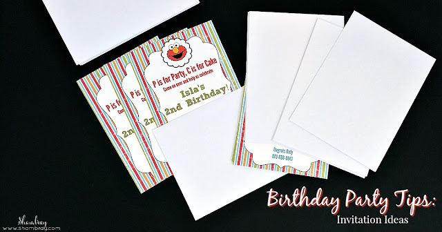 Birthday Party Tips: Invitation Ideas