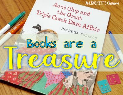 Books are really a treasure.  This beginning of year read aloud teaches kids how important books are in our lives.