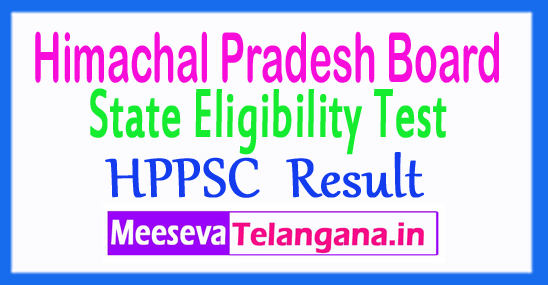 Himachal Pradesh State Eligibility Test HP SET Result 2018