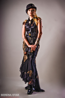 Steampunk mermaid skirts and fishtail skirts began with victorian era trumpet and fishtail skirts.