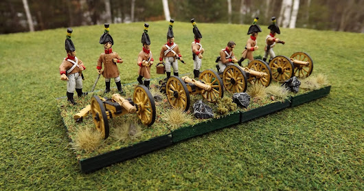 28mm Austrian Napoleonic Artillery and Grenzer Command