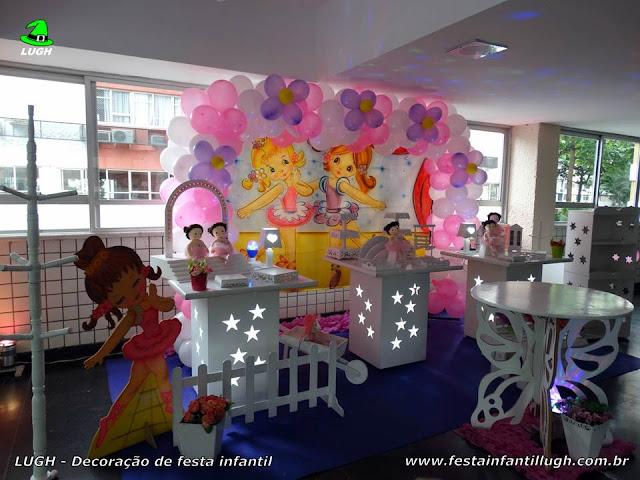 Ornamentação provençal tema infantil Bailarinas para festa de aniversário de meninas