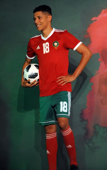 a7051514f Morocco 2018 World Cup Home   Away Kits Revealed - Footy ...