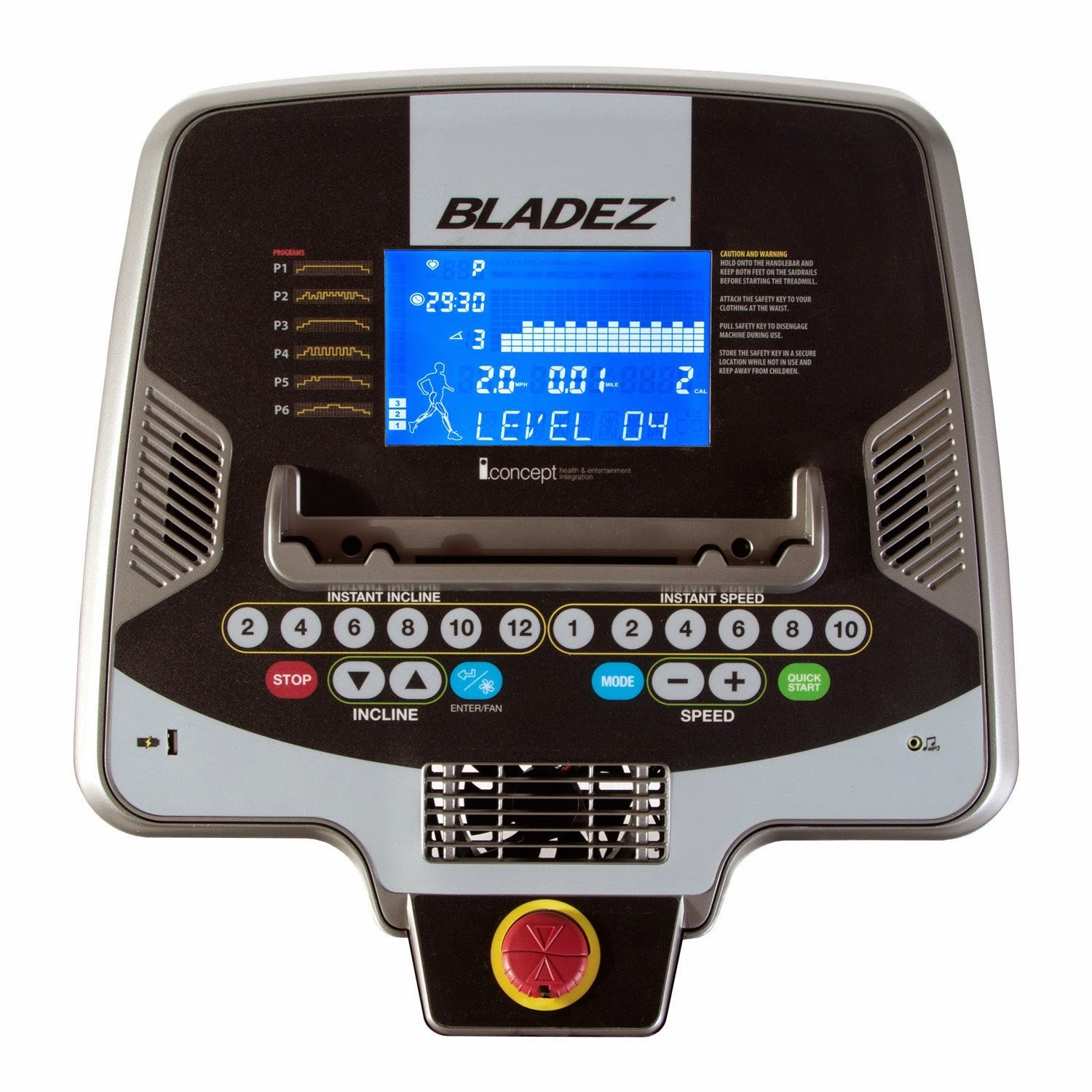Bladez T500i/T300i console with iConcept bluetooth technology for interactive training and entertainment