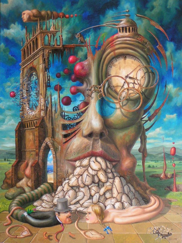 11-Not-a-waste-of-time-Jaroslaw-Jaśnikowski-Paintings-of-Surreal-Architecture-with-Gothic-Undertones-www-designstack-co