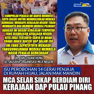 DAP Terus Rakus Tindas Penjaja Di Penang #MCA